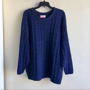 [Vintage] Midnight Metallic Chunky Sweater